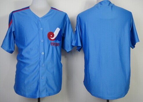 Montreal Expos Blank 1982 Blue Throwback Jersey