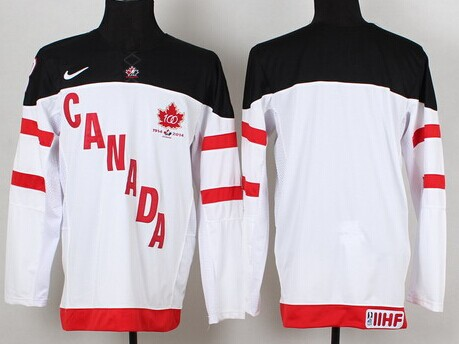2014/15 Team Canada Blank White 100TH Jersey