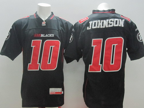 CFL Ottawa RedBlacks #10 Kierrie Johnson Black Jersey