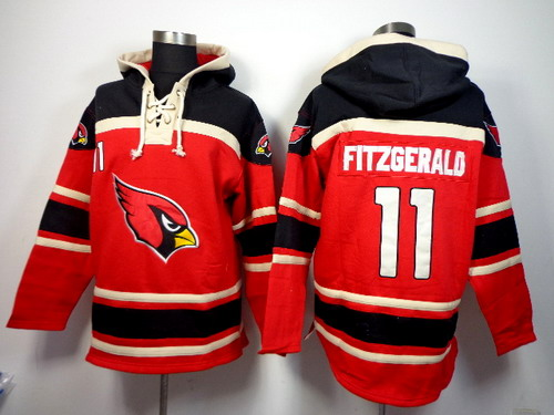 Arizona Cardinals #11 Larry Fitzgerald 2014 Red Hoodie