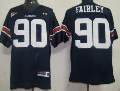 Auburn Tigers #90 Nick Fairley Navy Blue Jersey