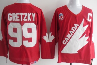 Team Canada #99 Wayne Gretzky 1991 Olympic Red Throwback CCM Jersey