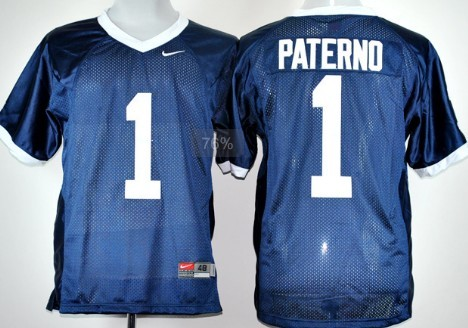 Penn State Natty Lions #1 Joe Paterno Navy Blue Jersey