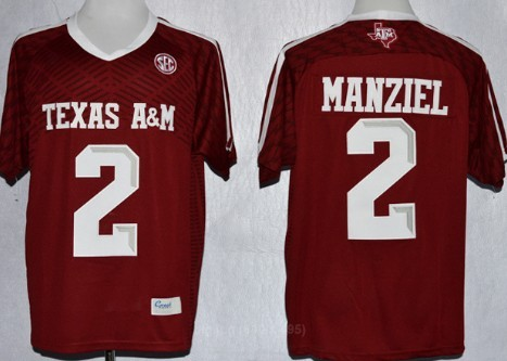 Texas A&M Aggies #2 Johnny Manziel 2013 Red Jersey