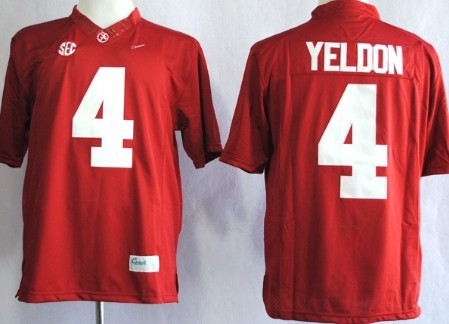 Alabama Crimson Tide #4 T.J Yeldon 2014 Red Limited Jersey