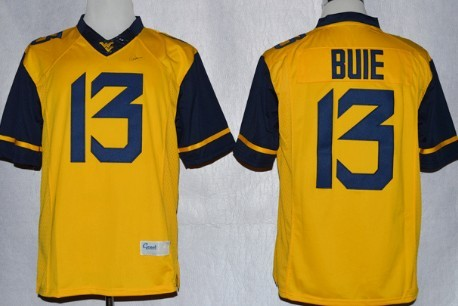 West Virginia Mountaineers #13 Andrew Buie 2013 Yellow Limited Jersey