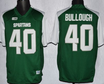 Michigan State Spartans #40 Max Bullough 2013 Green With White  Jersey