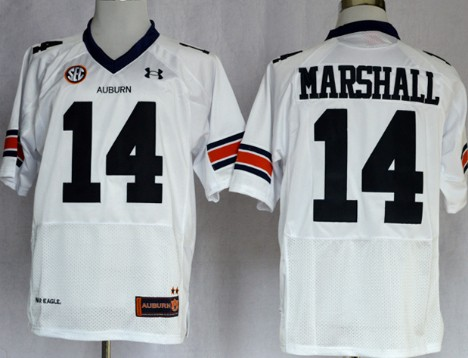 Auburn Tigers #14 Nick Marshall White Jersey