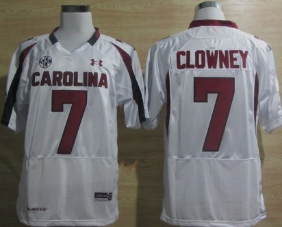 South Carolina Gamecocks #7 Jadeveon Clowney White Jersey