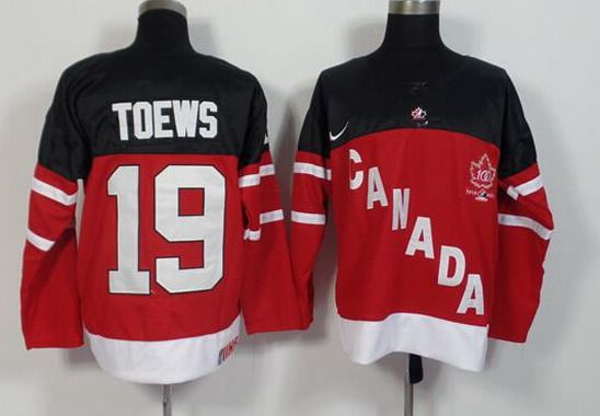 2014-15 Men's Team Canada #19 Jonathan Toews Red 100TH Anniversary Jersey