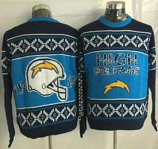 Men's San Diego Chargers Blue With Black NFL Sweater