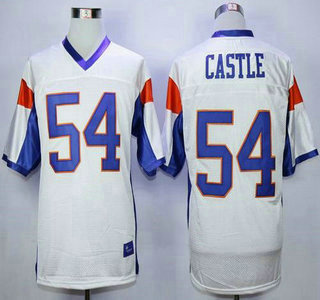Blue Mountain State #54 Thad Castle White 2015 College Football Jersey
