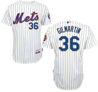 New York Mets #36 Sean Gilmartin Home Authentic Cool Base Jersey with 2015 World Series Participant Patch