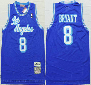 Los Angeles Lakers #8 Kobe Bryant 1996-97 Blue Hardwood Classics Soul Swingman Throwback Jersey