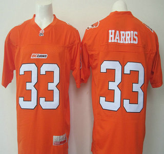 CFL BC Lions #33 Andrew Harris Orange Jersey