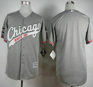 Men's Chicago White Sox Blank 2015 Gray Jersey