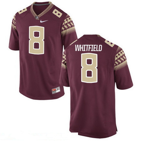 Men's Florida State Seminoles #8 Kermit Whitfield Red Stitched College Football 2016 Nike NCAA Jersey