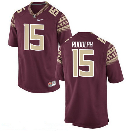 Men's Florida State Seminoles #15 Travis Rudolph Red Stitched College Football 2016 Nike NCAA Jersey