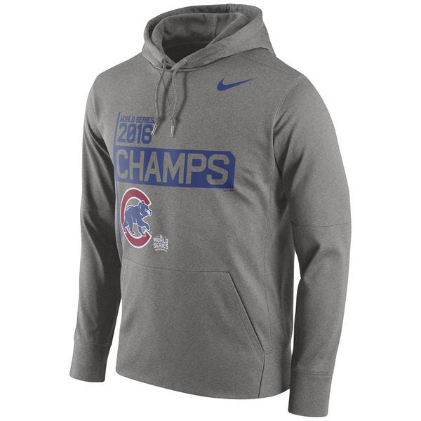 Chicago Cubs Nike Gray 2016 World Series Champions Celebration Performance Men's Hoodie