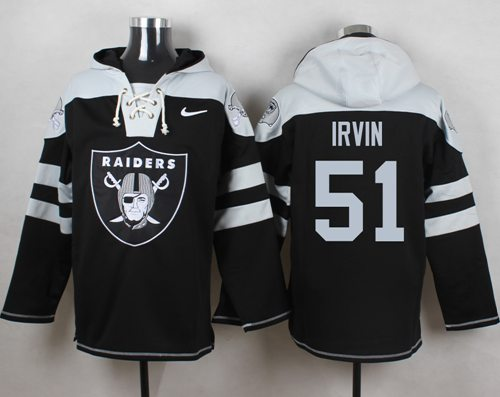 Nike Raiders #51 Bruce Irvin Black Player Pullover NFL Hoodie