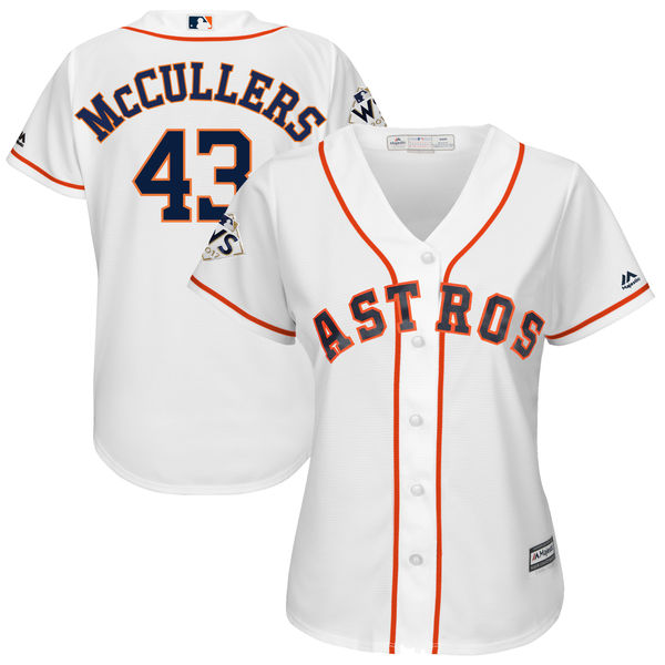 Women's Houston Astros #43 Lance McCullers Jr. White Women 2017 World Series Bound Coolbase Player Jersey