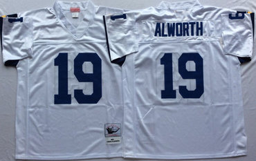 Chargers 19 Lance Alworth White Throwback Jersey