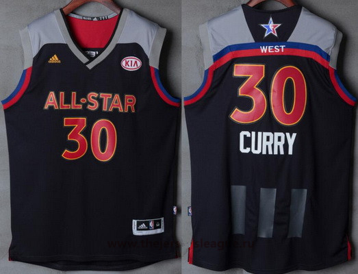 Men's Western Conference Golden State Warriors #30 Stephen Curry adidas Black Charcoal 2017 NBA All-Star Game Swingman Jersey