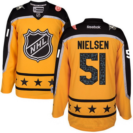 Men's Atlantic Division Detroit Red Wings #51 Frans Nielsen Reebok Yellow 2017 NHL All-Star Stitched Ice Hockey Jersey