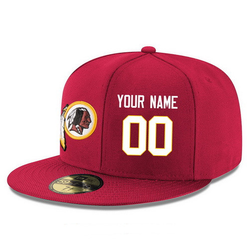 Washington Redskins Custom Snapback Cap NFL Player Red with White Number Stitched Hat