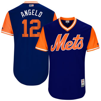 Men's New York Mets Juan Lagares Angelo Majestic Royal 2017 Players Weekend Authentic Jersey