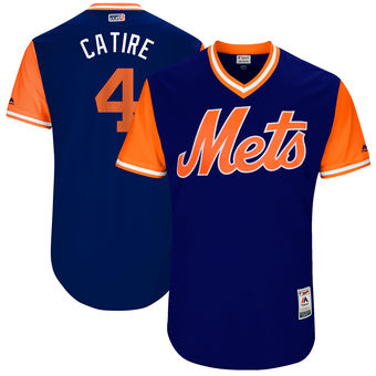 Men's New York Mets Wilmer Flores Catire Majestic Royal 2017 Players Weekend Authentic Jersey