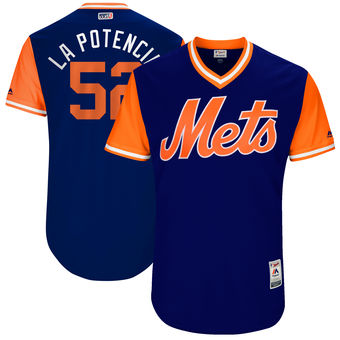 Men's New York Mets Yoenis Cespedes La Potencia Majestic Royal 2017 Players Weekend Authentic Jersey