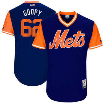 Men's New York Mets Erik Goeddel Goopy Majestic Royal 2017 Players Weekend Authentic Jersey
