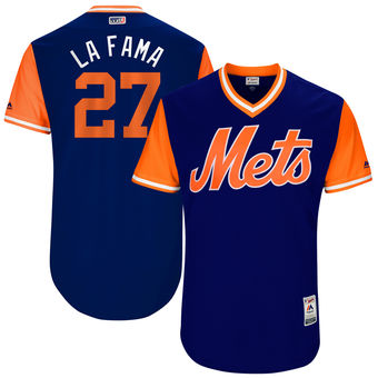 Men's New York Mets Jeurys Familia La Fama Majestic Royal 2017 Players Weekend Authentic Jersey