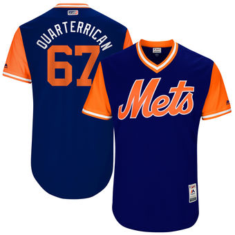 Men's New York Mets Seth Lugo Quarterrican Majestic Royal 2017 Players Weekend Authentic Jersey