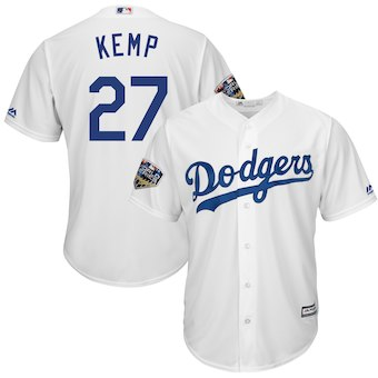 Men's Los Angeles Dodgers #27 Max Muncy Majestic Royal 2018 World Series Cool Base Player Jersey
