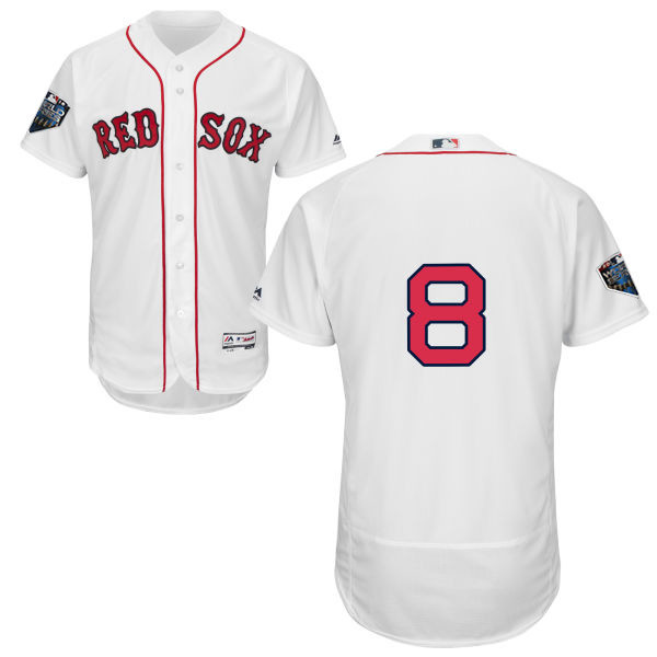 Red Sox #8 Carl Yastrzemski White Flexbase Authentic Collection 2018 World Series Stitched MLB Jersey