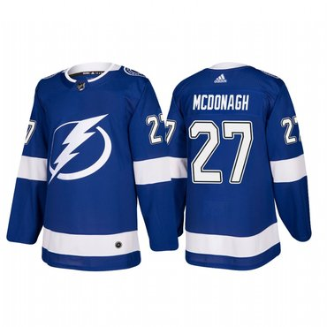 Adidas Tampa Bay Lightning #27 Ryan McDonagh Authentic Player Blue Home Jersey