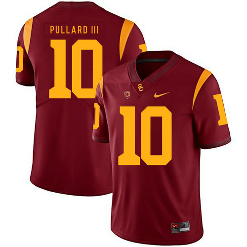USC Trojans 10 Hayes Pullard III Red College Football Jersey