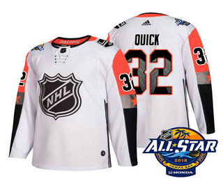 Men's Los Angeles Kings #32 Jonathan Quick White 2018 NHL All-Star Stitched Ice Hockey Jersey
