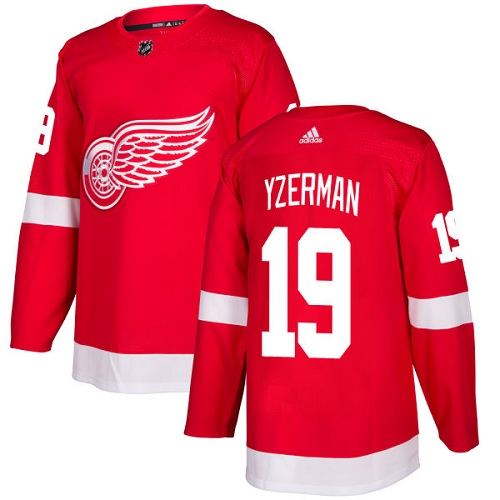 Men's Adidas Detroit Red Wings #19 Steve Yzerman Red Home Authentic Stitched NHL Jersey