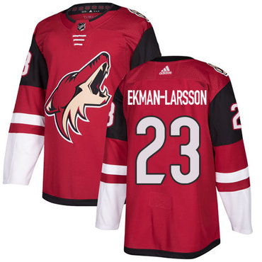 Adidas Coyotes #23 Oliver Ekman-Larsson Maroon Home Authentic Stitched NHL Jersey