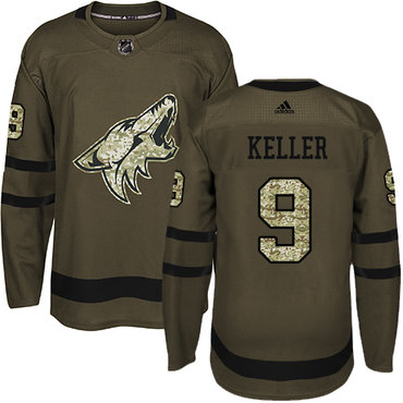 Adidas Coyotes #9 Clayton Keller Green Salute to Service Stitched NHL Jersey