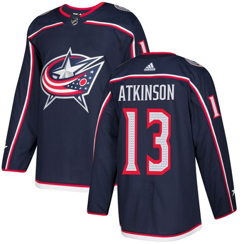 Adidas Blue Jackets #13 Cam Atkinson Navy Blue Home Authentic Stitched NHL Jersey