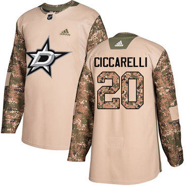Adidas Stars #20 Dino Ciccarelli Camo Authentic 2017 Veterans Day Stitched NHL Jersey