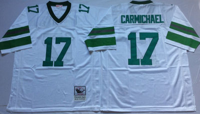 Eagles 17 Harold Carmichael White Throwback Jersey