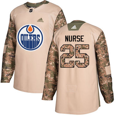 Adidas Edmonton Oilers #25 Darnell Nurse Camo Authentic 2017 Veterans Day Stitched NHL Jersey