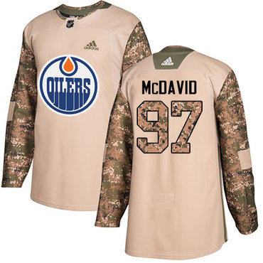 Adidas Edmonton Oilers #97 Connor McDavid Camo Authentic 2017 Veterans Day Stitched NHL Jersey