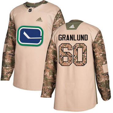 Adidas Canucks #60 Markus Granlund Camo Authentic 2017 Veterans Day Stitched NHL Jersey