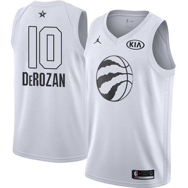 Nike Raptors #10 DeMar DeRozan White NBA Jordan Swingman 2018 All-Star Game Jersey